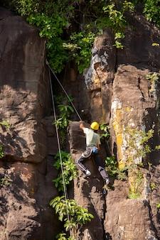 イグアス国立公園玄武岩のロッククライマー