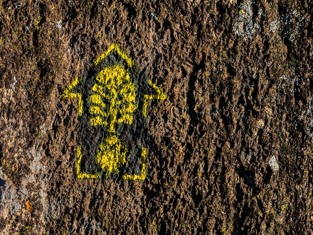 トランスマンティケイラの長いトレイルハイキングのトレイルマーク