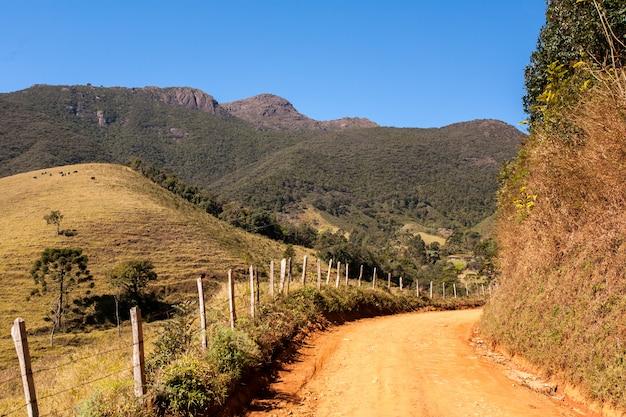 ブラジルの地方都市の道路