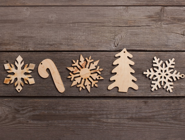 グランジ背景上のクリスマスの装飾