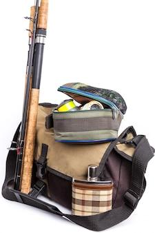 Снасти в сумочке с банкой