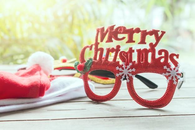 メリークリスマスの目のグラステーブル