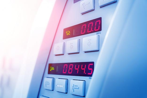コンピュータ断層撮影のボタン