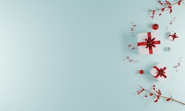 装飾とメリークリスマスのグリーティングカードの背景