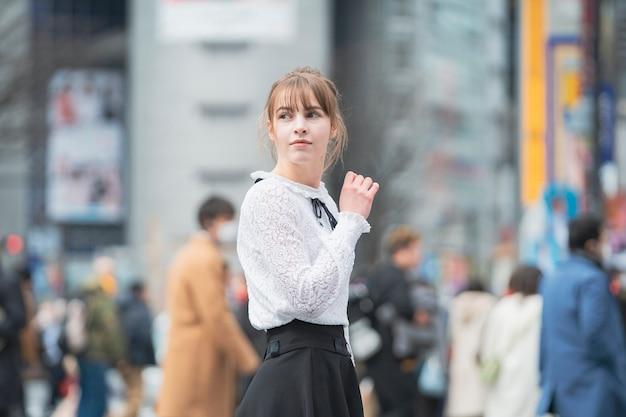 渋谷観光女性(東京/日本)