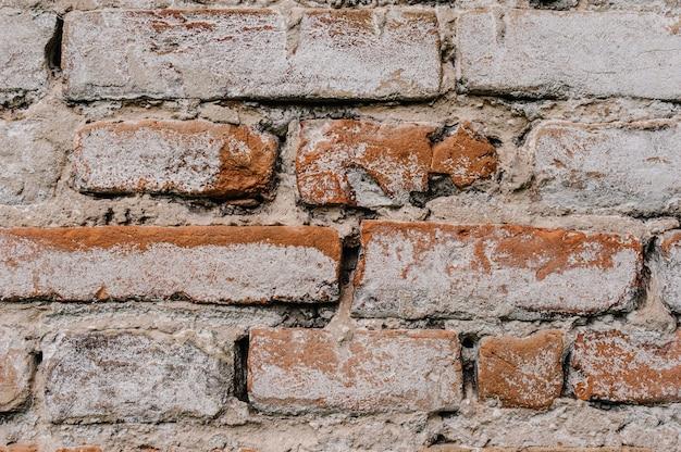 Старая кирпичная стена, текстура и предпосылка.