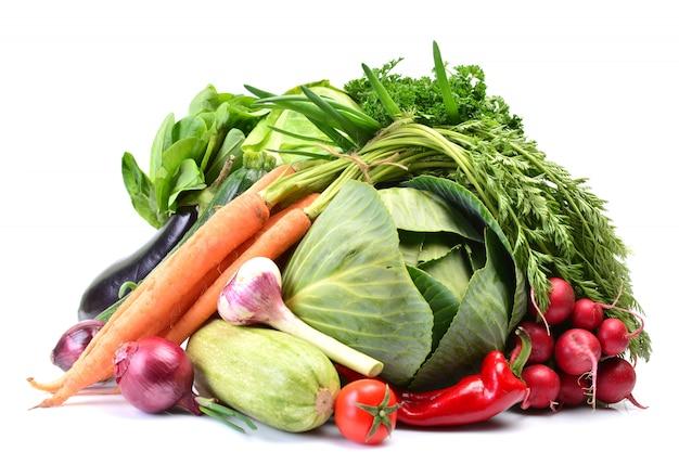 分離した新鮮な野菜