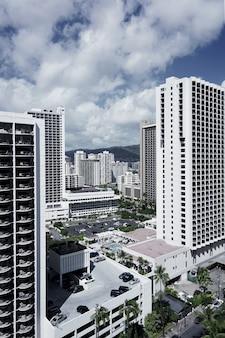 Красивый воздушный снимок города