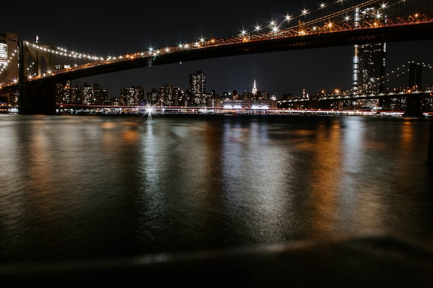 Красивый мост манхэттена