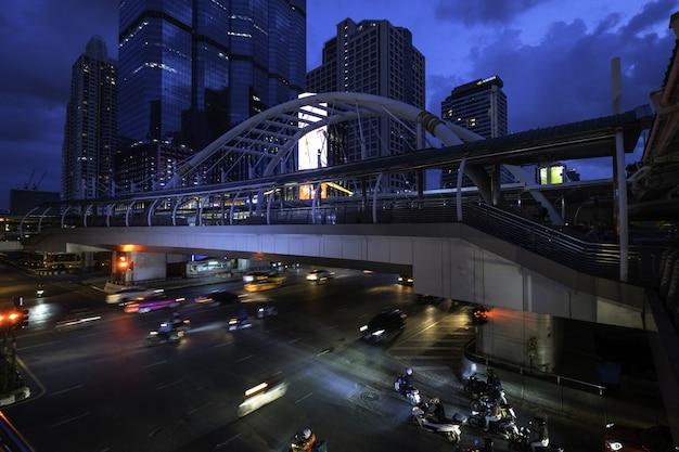 Ночное время в бангкоке, тайанд