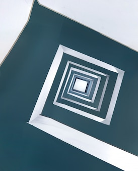 美しい正方形の無限のスパイラルパターン
