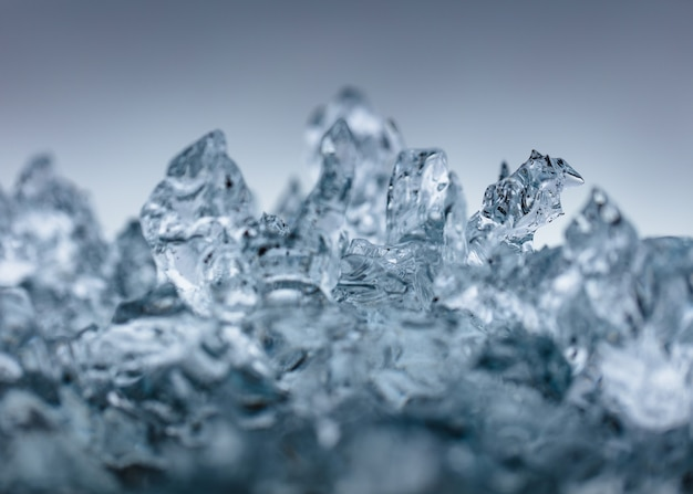 Съемка крупного плана красивого морозного льда