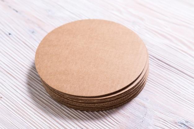 Картонные подставки под коричневую крафт-картон, подставка для чашки, коврик, держатель