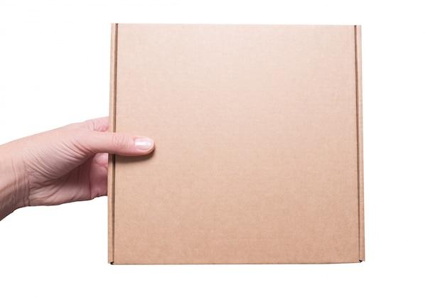 茶色のカートンのギフトボックス