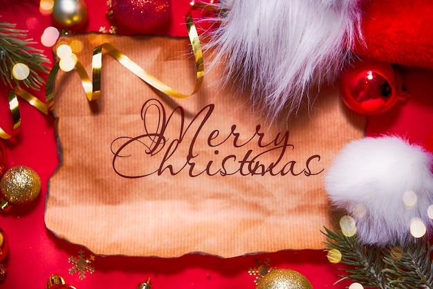 赤い休日クリスマス背景
