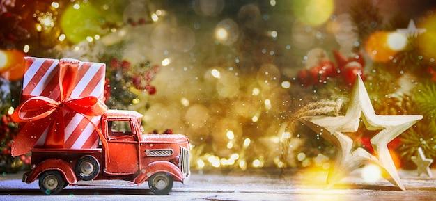 クリスマスと新年の背景