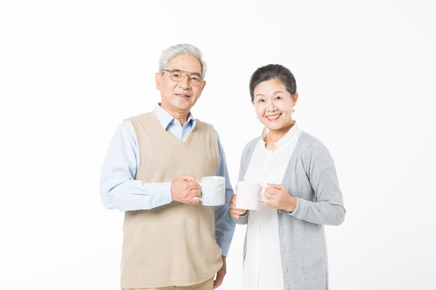 愛する老夫婦飲料水