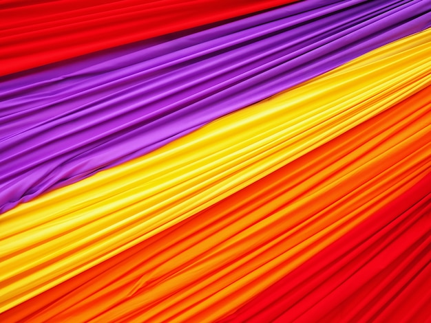 Полная рамка красочная волнистая мягкая ткань