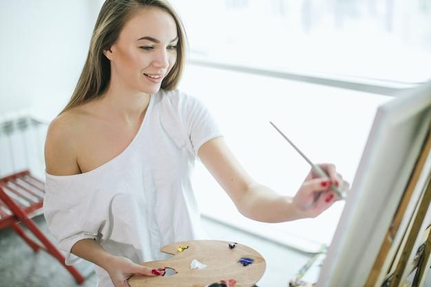 Хобби, отдых, изобразительное искусство и живопись маслом. классы школы изобразительного искусства