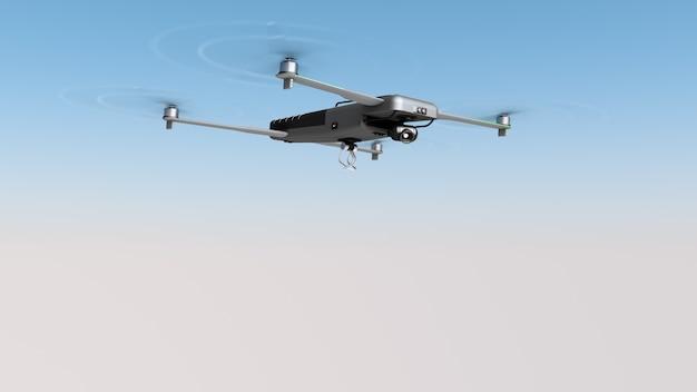 Летающий дрон с грузовым креплением.