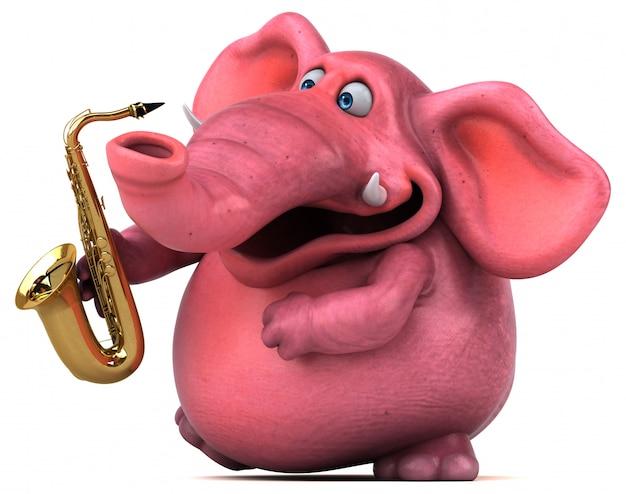 ピンクの象のアニメーション