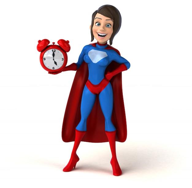 スーパーヒーローの女性のアニメーション