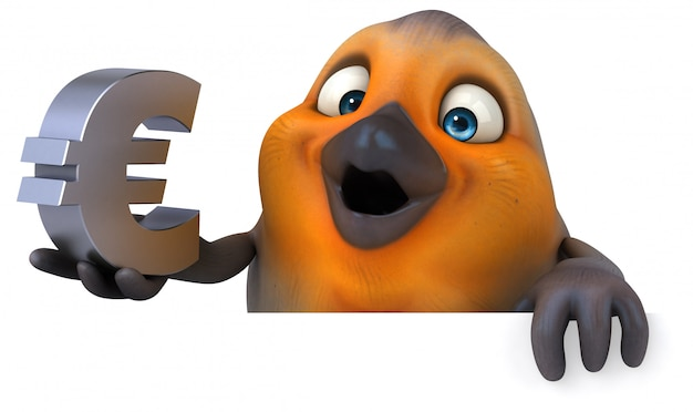 分離された楽しい鳥のキャラクター