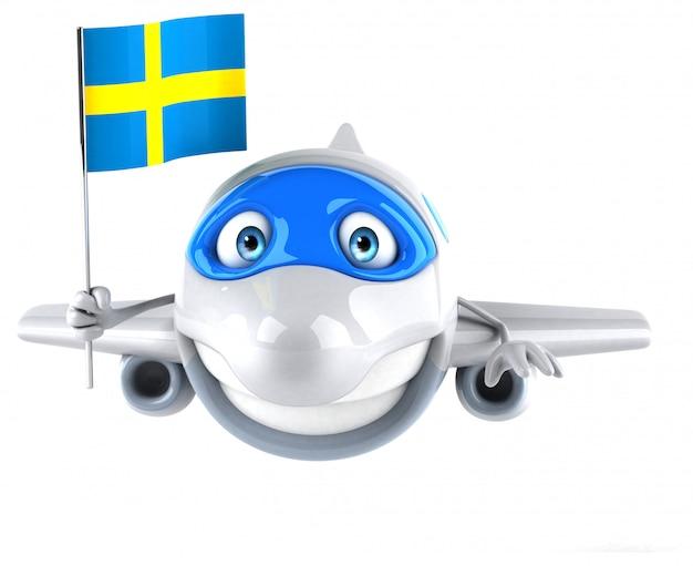 Веселая анимация самолета