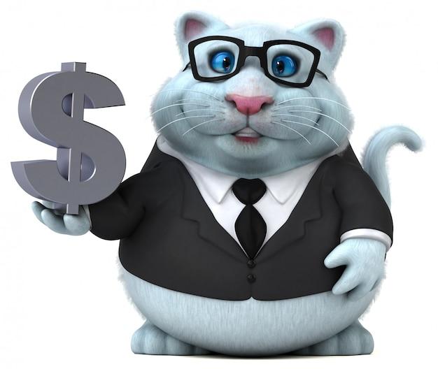 ドル記号で楽しい猫