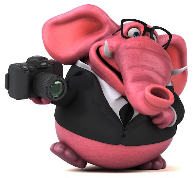 カメラでピンクの象
