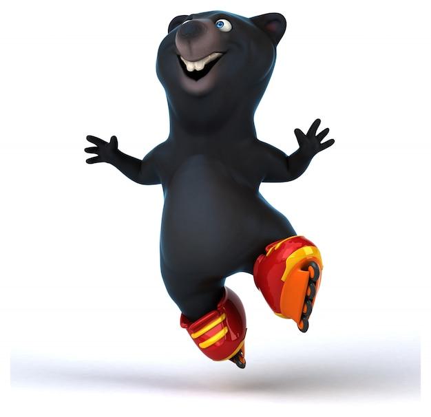 Веселая анимация медведя