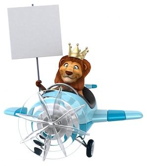Забавный лев