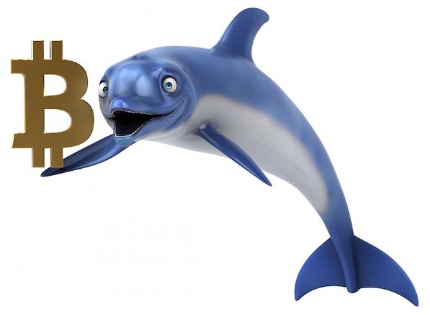 Веселая анимация дельфинов