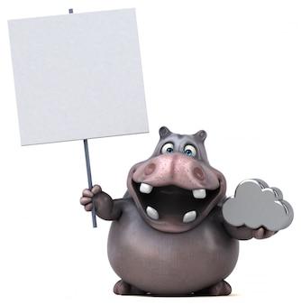 Анимация бегемота