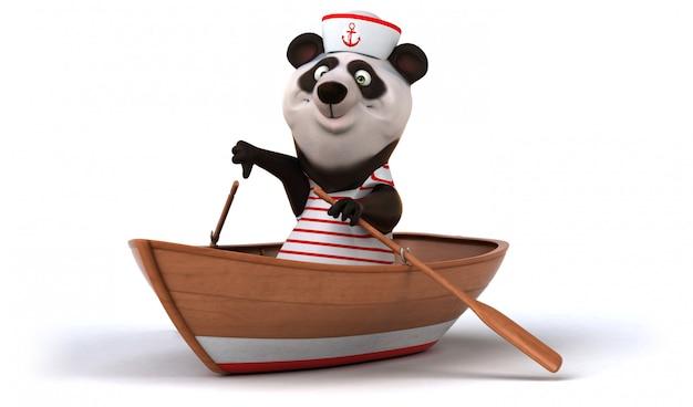 Веселая панда анимация