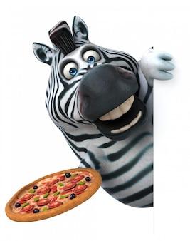 Веселая анимация зебры