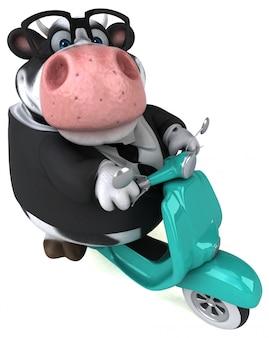 楽しい牛のアニメーション