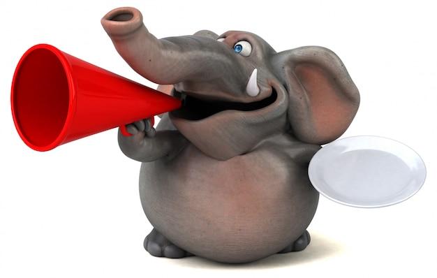Веселая анимация слонов