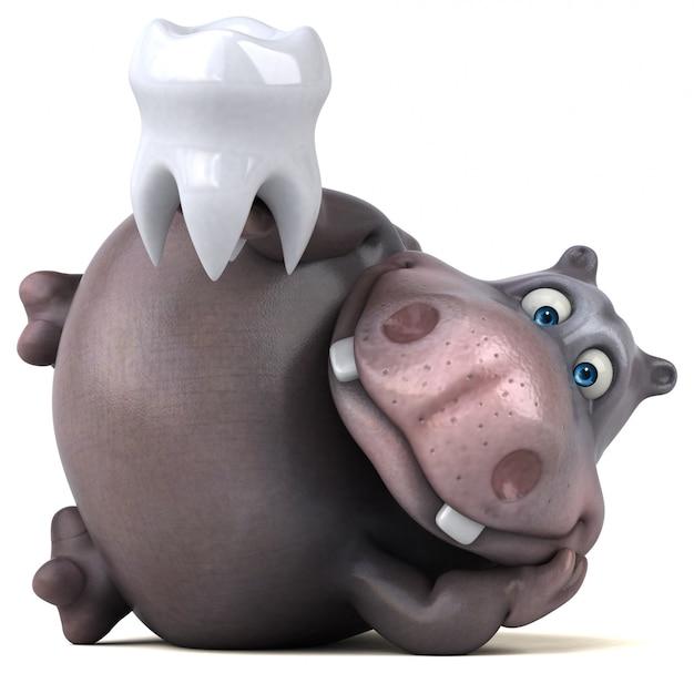 Веселая анимация бегемота