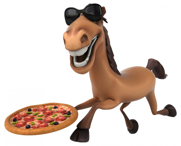 楽しい馬のアニメーション