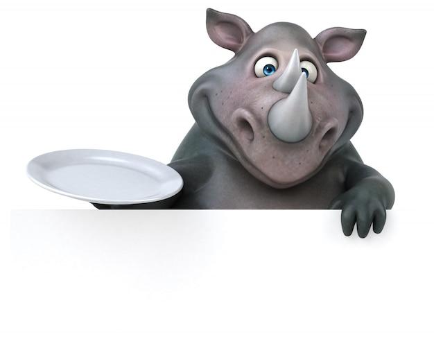 Веселая анимация носорога