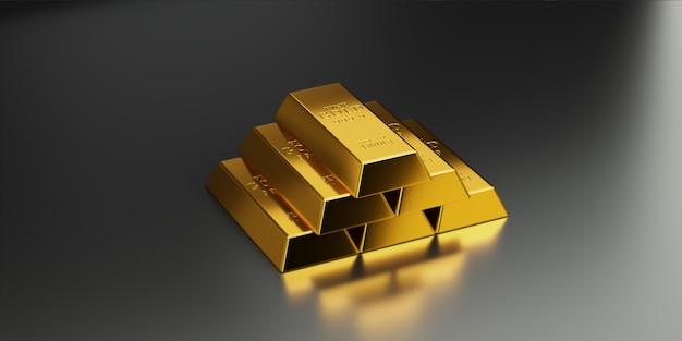 金の延べ棒は、金の高い価値を伝えるために上位層に配置されています