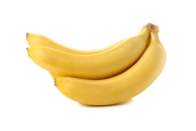 Банановый кластер изолированы. свежие фрукты