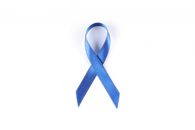 Синяя лента осведомленности, изолированные на белом