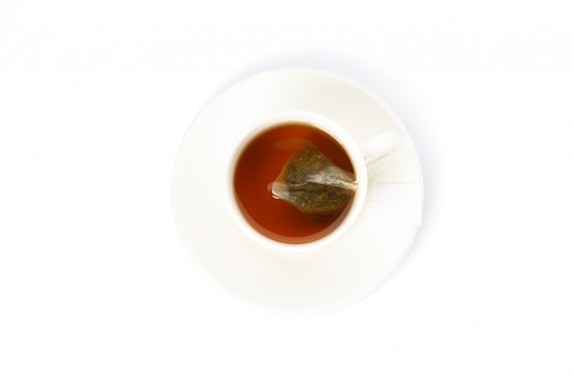 Чашка чая, изолированные на белом