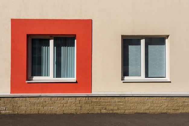 Фасадная штукатурка стеновая. штукатурка монолитная декоративная. внешний вид здания.