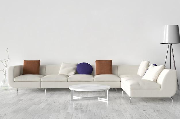 壁に空白の額縁。この空きスペースに作成物を配置します。
