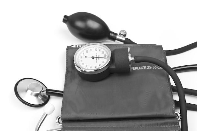 医学オブジェクト。聴診器で血圧