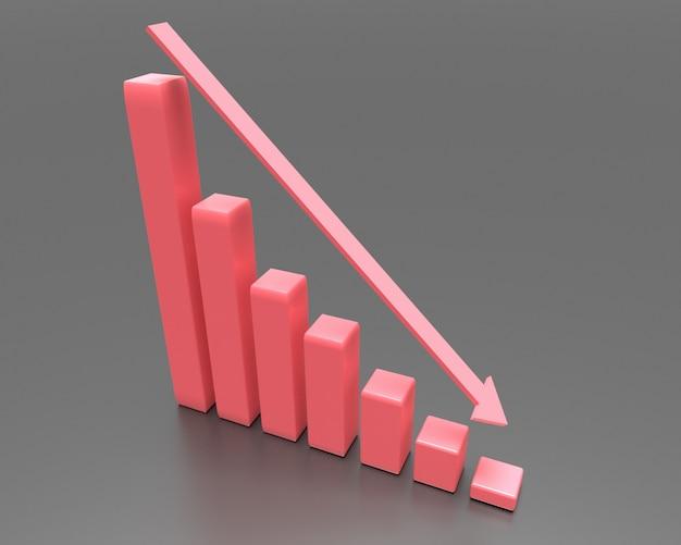 矢印付きの金融危機のグラフ
