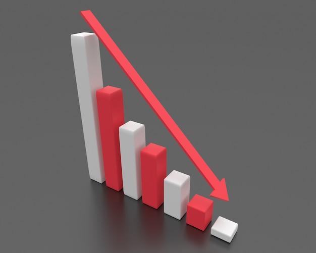 破産のビジネスコンセプトです。金融危機のグラフ